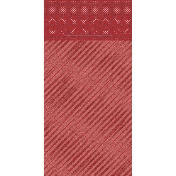 Tissue Deluxe Besteckservietten Bordeaux, 40 x 40 cm, 75 Stück - Mank