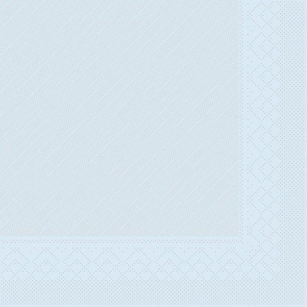 Tissue Deluxe Serviette Hellblau, 40 x 40 cm, 50 Stück - Mank