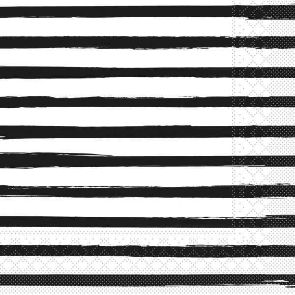 Tissue Serviette Bea in Schwarz, 40 x 40 cm, 100 Stück - Mank