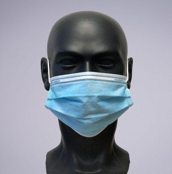 Einweg OP-Masken mit integrierten Nasenbügel, 50 Stück