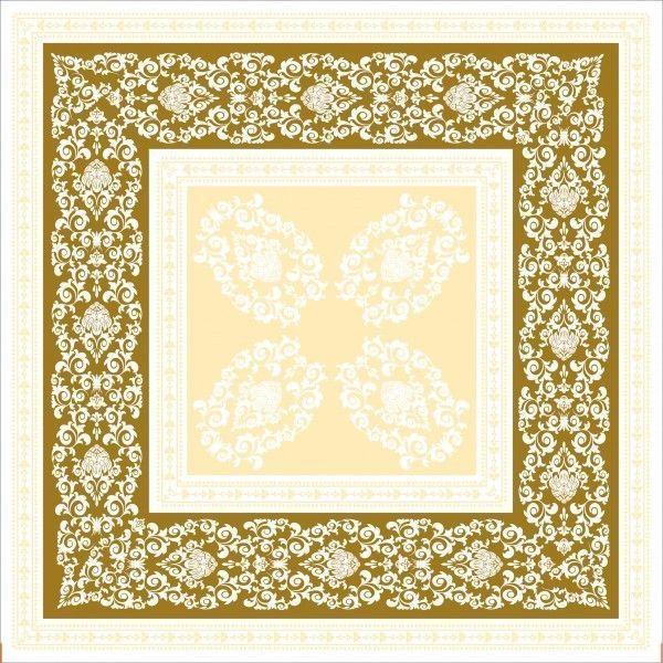 Airlaid Tischdecke Pascal in Gold-Creme, 80 x 80 cm, 20 Stück - Mank
