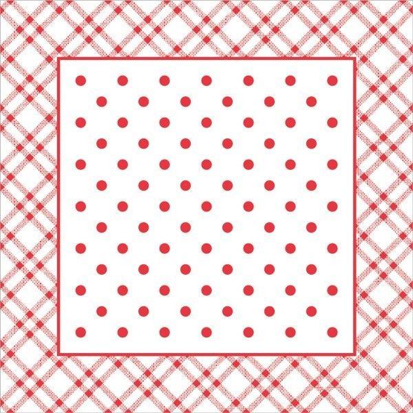 Deckchen Antonia in Rot, Tissue mit Folienbeschichtung, 90x90 mm, 250 Stück - Mank