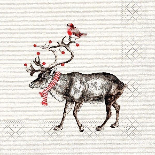 Tissue Serviette Knut, 33 x 33 cm, 100 Stück - Mank