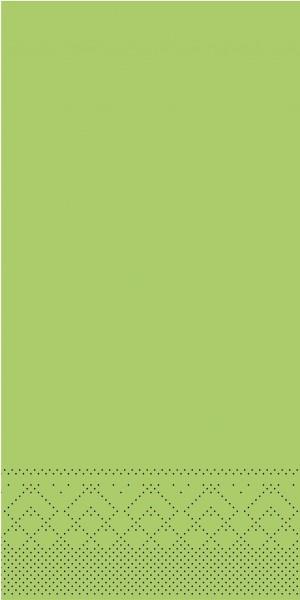 Tissue Serviette Kiwi, 40 x 40 cm, 1/8 Falz, 100 Stück - Mank