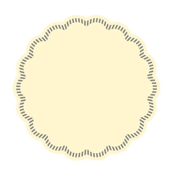 Tissue Deckchen in Creme, Ø 90 mm, 250 Stück - Mank