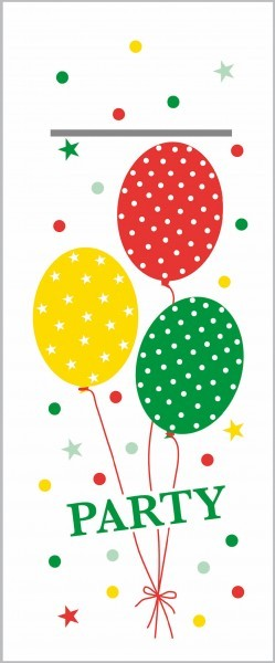 """Airlaid Besteckservietten Party Ballons in Rot-Grün """"Pub"""", 40 x 33 cm, 75 Stück - Mank"""