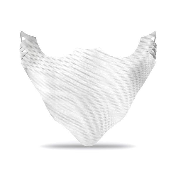 Prime Guest Einweg Behelfs- Mund- und Nasenmaske M1 in Weiß aus PP-Vlies, 144x400mm, 100 Stück