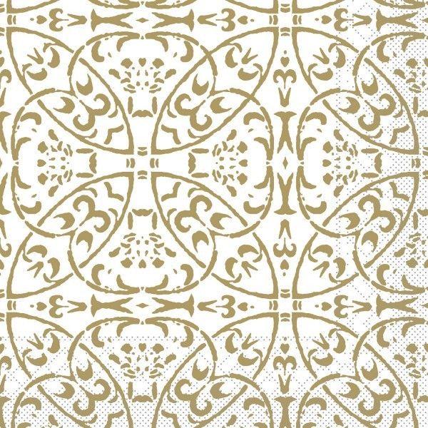 Tissue Serviette Claudio in Gold, 40 x 40 cm, 100 Stück - Mank