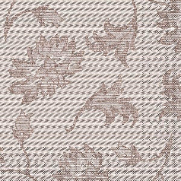 Tissue Serviette Lisboa in Braun, 40 x 40 cm, 100 Stück - Mank