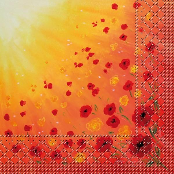 Tissue Serviette Sommerwiese, 40x40 cm, 100 Stück - Mank