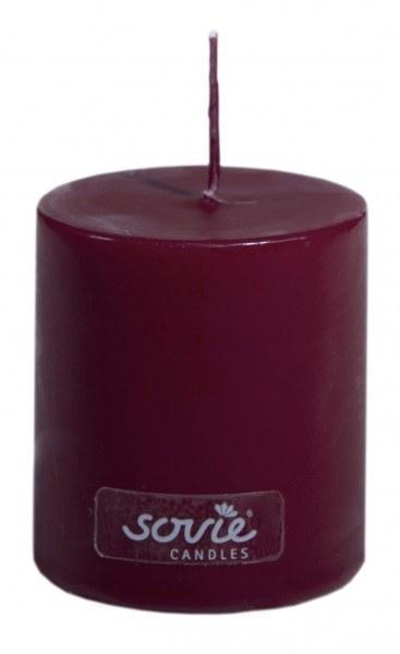 Stumpenkerze Bordeaux, Ø50x60 mm