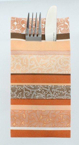 Airlaid Besteckservietten Zara in Terrakotta, 40 x 40 cm, 75 Stück - Mank