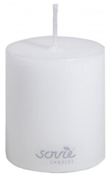 Stumpenkerze Weiß, Ø50x60 mm