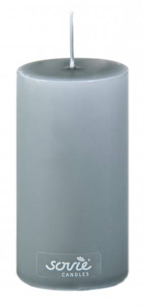 Stumpenkerze Grau, Ø50x100 mm