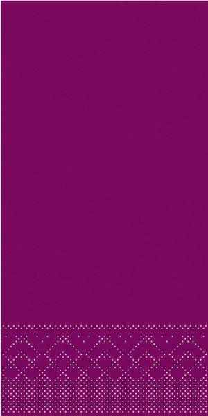 Tissue Serviette Aubergine, 40 x 40 cm, 1/8 Falz, 100 Stück - Mank