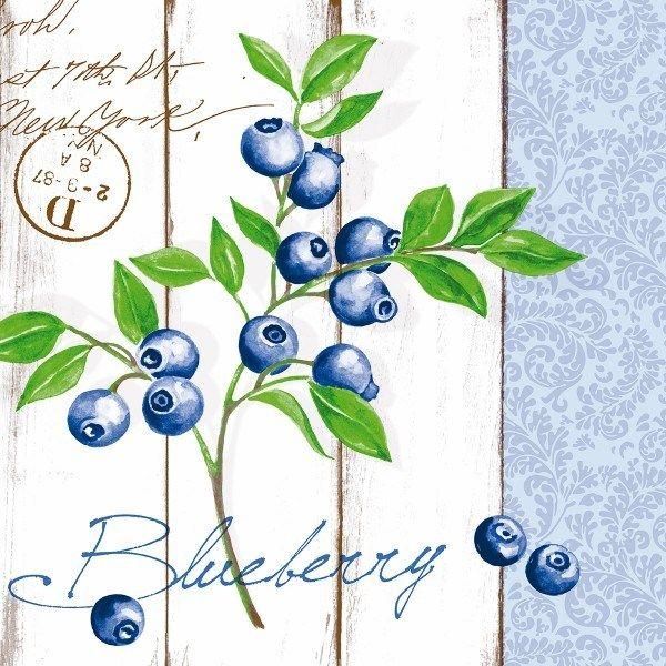 Airlaid Serviette Blueberry, 40 x 40 cm, 50 Stück - Mank