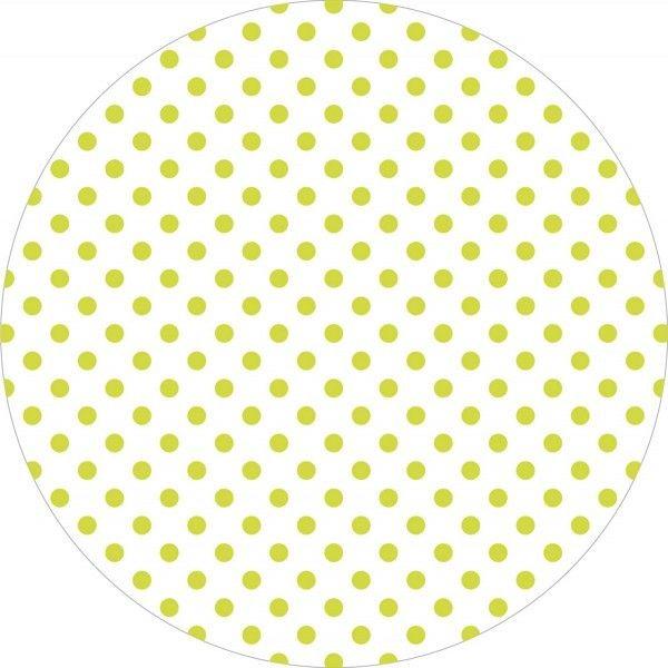 Deckchen Antonia-Punkte in Lime, Tissue mit Folienbeschichtung, 90x90 mm, 250 Stück - Mank
