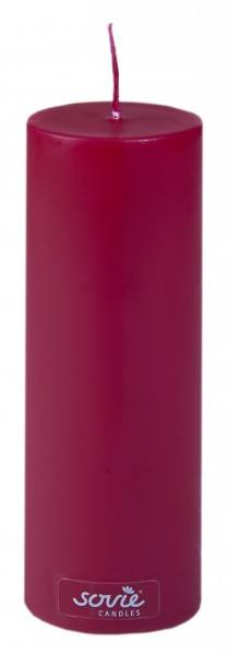 Stumpenkerze Bordeaux, Ø50x150 mm