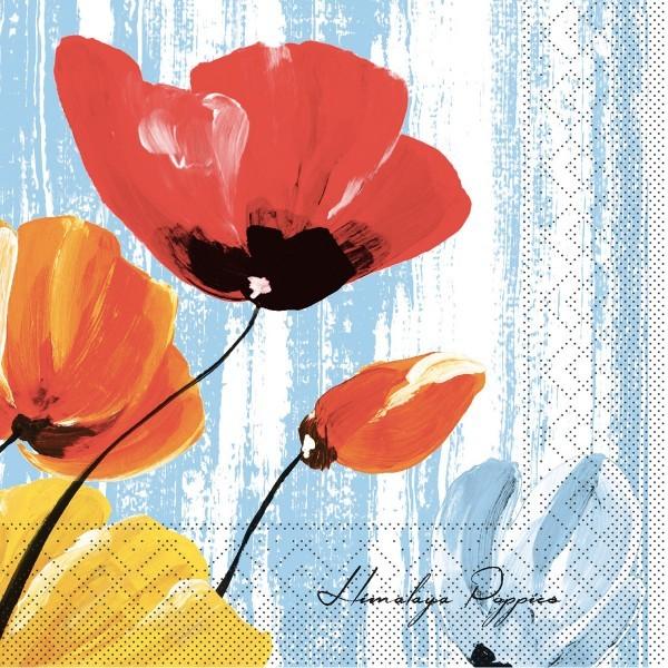 Tissue Serviette Ivonne in Blau, 33 x 33 cm, 100 Stück