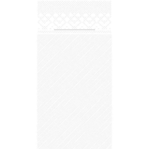 Tissue Deluxe Besteckservietten Weiß, 40 x 40 cm, 75 Stück - Mank