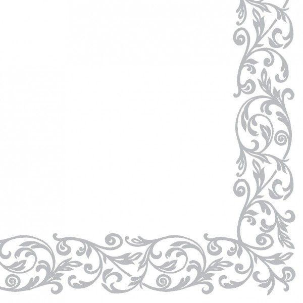 Airlaid Serviette Rob in Silber, 40 x 40 cm, 50 Stück - Mank