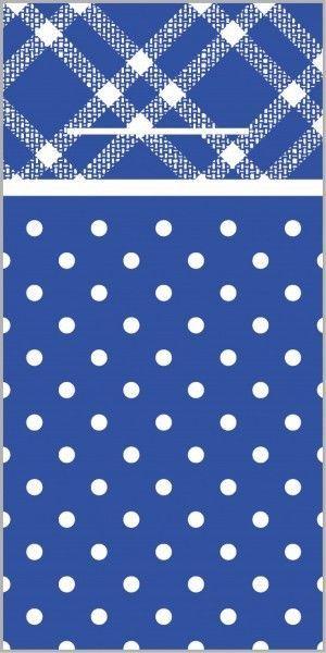 Airlaid Besteckservietten Antonia in Blau, 40 x 40 cm, 100 Stück - Mank