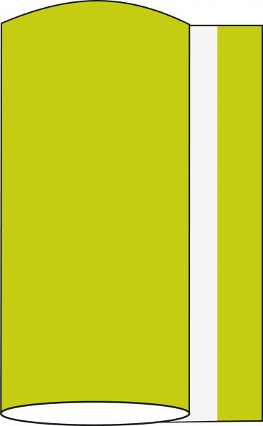 Airlaid Tischband Kiwi 20 cm x 20 m , 1 Stück - Mank