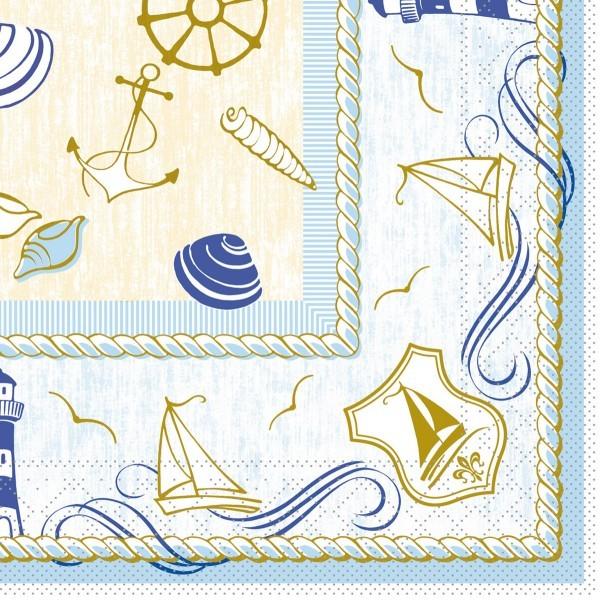 Tissue Serviette Coast, 33 x 33 cm, 100 Stück - Mank