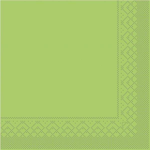 Tissue Serviette Kiwi, 33 x 33 cm, 100 Stück - Mank