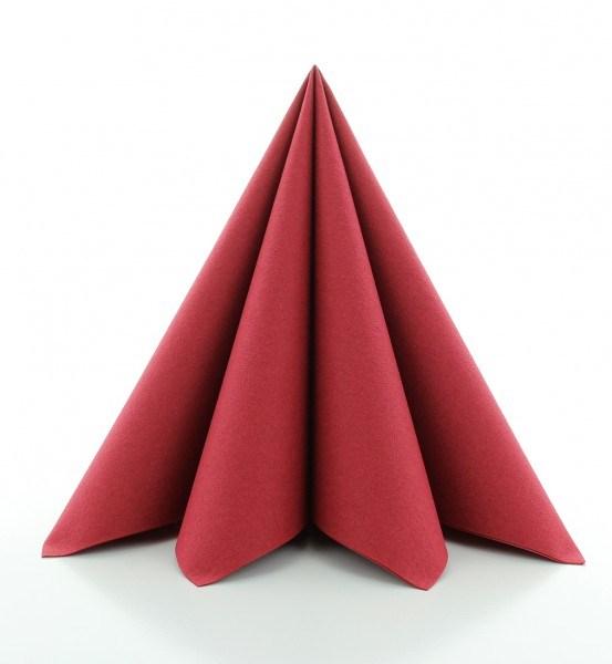 PG-Airlaid Serviette Bordeaux, 40 x 40 cm, 50 Stück