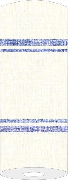 Airlaid Tischläufer Joe in Creme-Blau, 40 cm x 24 m , 1 Stück - Mank