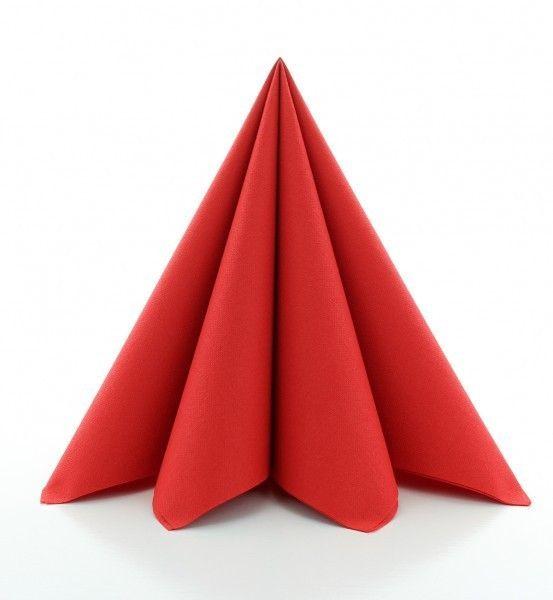 PG-Airlaid Serviette Rot, 40 x 40 cm, 50 Stück
