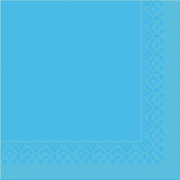 Tissue Serviette Aquablau, 40 x 40 cm, 100 Stück - Mank