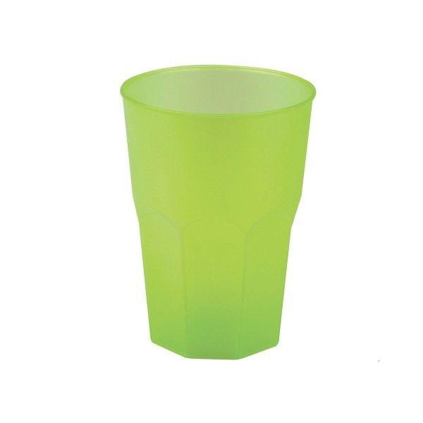 Mehrweg-Cocktailglas Hellgrün-gefrostet 420ml aus Plastik, 6 Stück - Mank