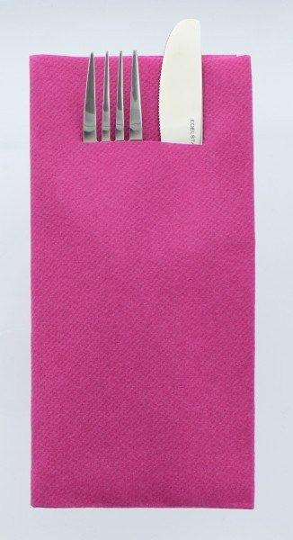 Airlaid Besteckservietten Violett, 40 x 40 cm, 75 Stück - Mank