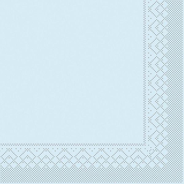 Tissue Serviette Hellblau, 33 x 33 cm, 100 Stück - Mank