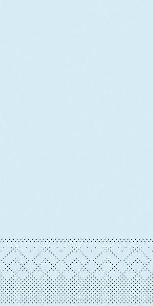Tissue Serviette Hellblau, 40 x 40 cm, 1/8 Falz, 100 Stück - Mank