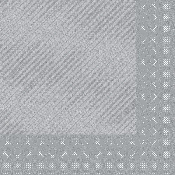 Tissue Deluxe Serviette Grau, 40 x 40 cm, 50 Stück - Mank