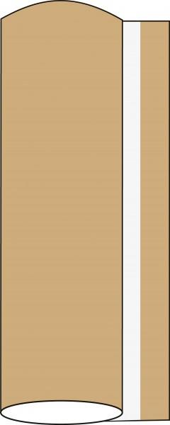 Airlaid Tischdeckenrolle Naturbraun, 120 cm x 25 m, 1 Stück - Mank