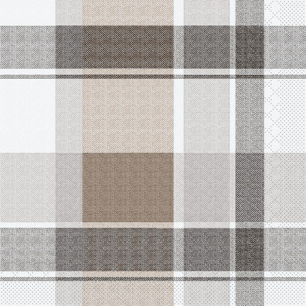 Tissue Serviette Marc in Braun-Schwarz, 33 x 33 cm, 100 Stück - Mank