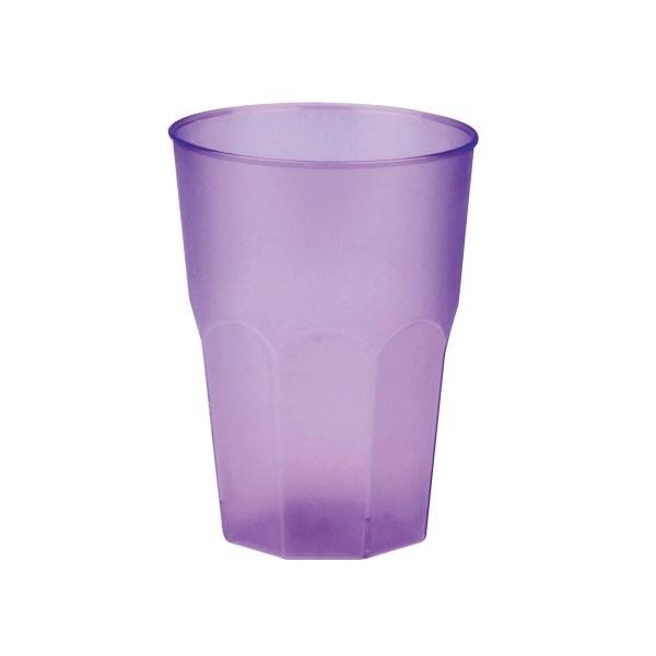 Mehrweg-Cocktailglas Lila-gefrostet 420ml aus Plastik, 6 Stück - Mank