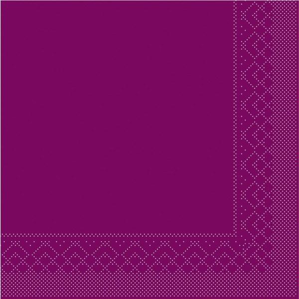Tissue Serviette Aubergine, 25 x 25 cm, 100 Stück - Mank