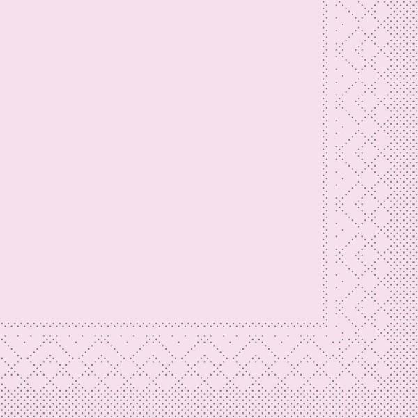 Tissue Serviette Rosa, 25 x 25 cm, 100 Stück - Mank