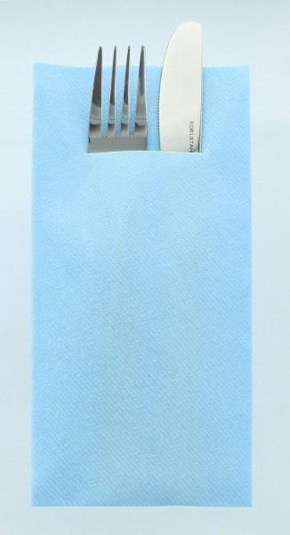 Airlaid Besteckservietten Hellblau, 40 x 40 cm, 100 Stück - Mank