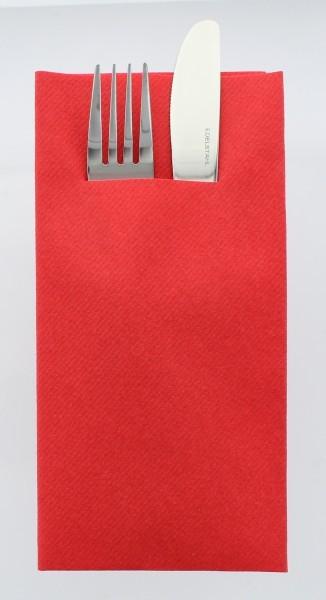 Airlaid Besteckservietten Rot, 40 x 40 cm, 75 Stück - Mank