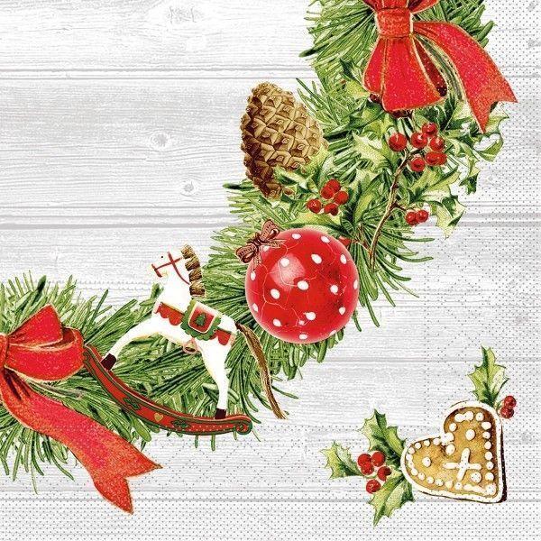 Tissue Serviette Advent, 40 x 40 cm, 100 Stück - Mank