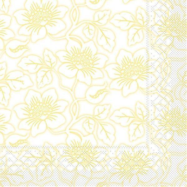 Tissue Serviette Hedda in Gelb, 40 x 40 cm, 100 Stück - Mank