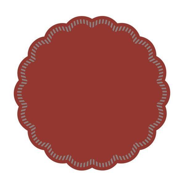 Tissue Deckchen in Bordeaux, Ø 90 mm, 250 Stück - Mank