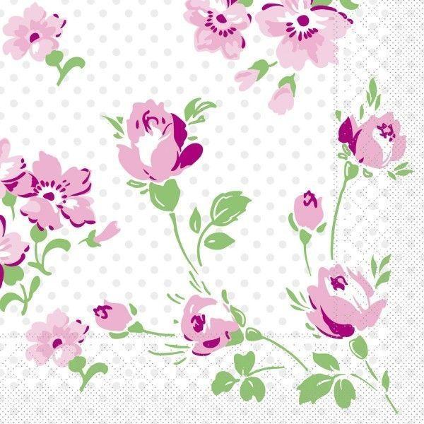 Tissue Serviette Inga, 40 x 40 cm, 100 Stück - Mank
