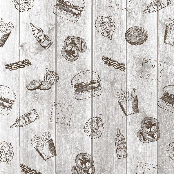 Burgerpapier Burger Board in Grau 30 x 30 cm, 2000 Stück - Mank